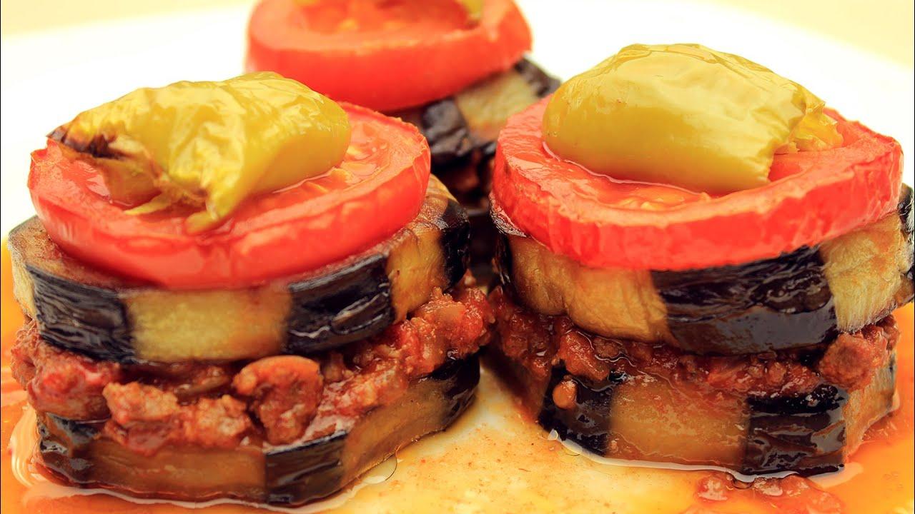 Halka Şekilde Fırında Patlıcan Yemeği
